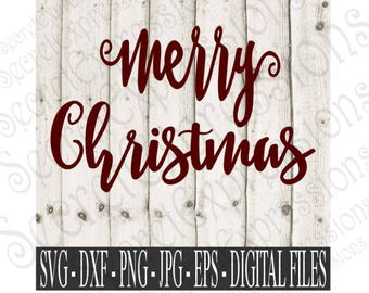 Merry Christmas Svg, Christmas Svg, Svg File, Holiday Svg, Digital Cutting File, eps, png, JPEG, DXF, SVG Cricut, Svg Silhouette, Print File