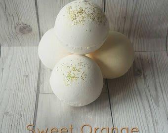 PROSECCO BATH BOMB, Champagne Bath Bomb, Sweet Orange Bath Bomb, Orange Bath Bomb, Glitter Bath Bomb, Citrus Bath Bomb, Handmade Bath Bomb