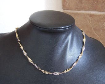 Gold-plated Twisted Strand Necklace