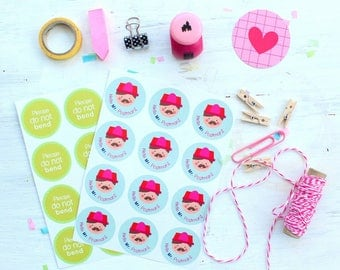 Stickers for mail / happy mail / mail box / hello Mr postman / packaging /