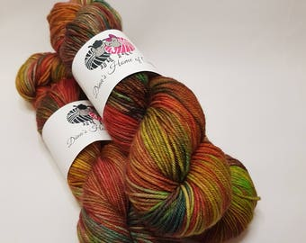 Hand dyed Merino Nylon yarn, DK weight, 100g, SIGULDA