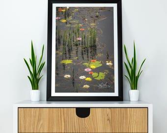 "Ireland Poster ""Water Flowers on Markree Castle Estate"" Ireland Print, Irish Photography, Ireland Art, Irish Landscape, Wall Art"