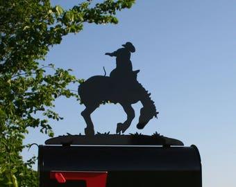Rodeo Metal Mailbox Topper, Bucking Bronco, Horse Mailbox, Ranch Mailbox Top, Breaking Horses, Saddle Bronc, Rodeo Mailbox, Bucking Horse