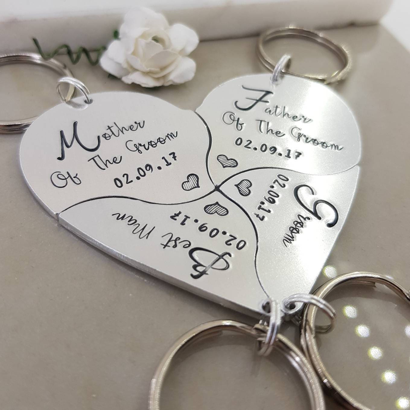 Groom and Bride Wedding Party Favour, Mother of the groom, best man ...