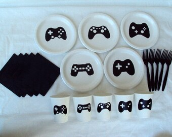 Video Game Controller Tableware Set for 5 People