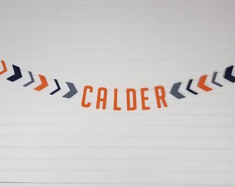 Custom Name or Saying Arrow Garland Banner - Pick Your Colors - Wild One Birthday Party, Baby Shower Decorations, Nursery Decor