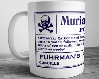 Vintage Style Poison Label Mug - Muriatic Acid