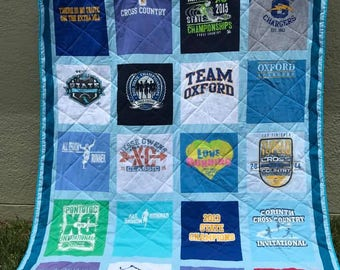 Tee Shirt Quilt - Quilt - Memory Quilt (With Solid Border)
