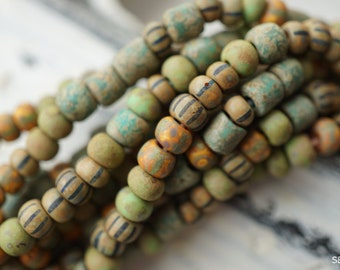 NEW Stock..Rustic Savannah Picasso Mix, Seed Beads, Seed Beads, Beads