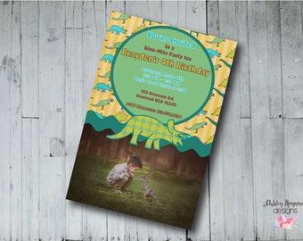 Dinosaur Birthday Invitation, Dino Party, Dinosaur Party, Dinosaur Invitation, Dino-mite Birthday, Digital File, Printable File