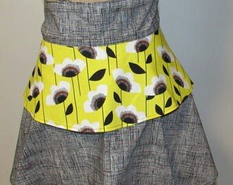 Black and yellow apron