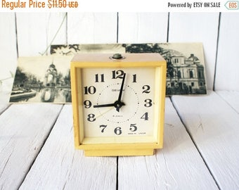 SALE Soviet Vintage alarm clock SEVANI Armenia  from Ussr era ,desk clock office retro decor, soviet collectibles, mechanical alarm clock