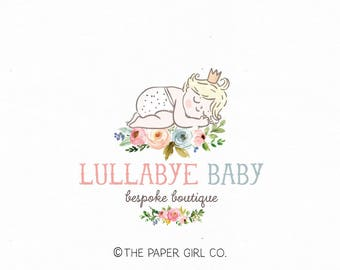baby shop logo newborn logo design baby logo design premade logo design photography logo baby boutique logo photo prop logo bespoke logo