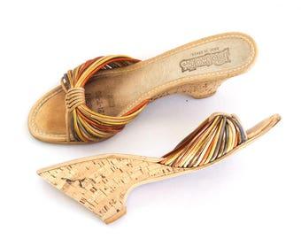 Brazilian cork wedge sandals