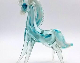 Murano Style Blown Glass Horse Figurine