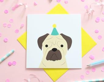 Birthday Pug Cards