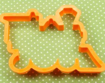 1984 Orange Plastic Wilton Train Engine Cookie Cutter USA