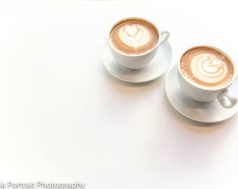Coffee photography for website and blogs, cappuccino