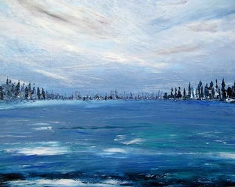 Abstract expressionism painting Nordica