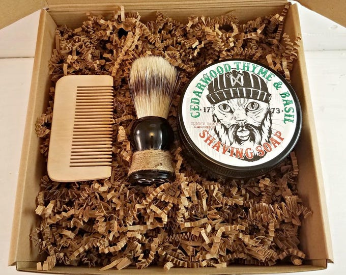 Cedarwood Mens Soap Gift Box, Manly Man Soap, Soap Gifts For Dad, Soap Gift For Men, Natural Shave Soap, Shave Soap Box, Masculine Gift Set