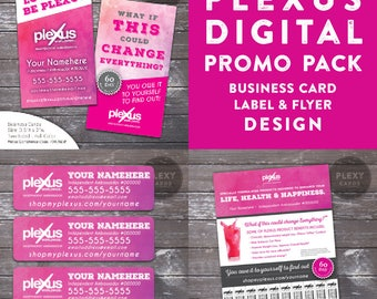 Plexus Watercolor Promo Pack - Business Cards, Labels & Flyer - Digital Files