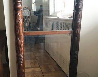 Antique 1900's Wood Frame Mirror