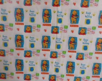 Disney Winnie The Pooh Fabric from Springs Industries Bees and Honey that is vintage and rare. There is 1 1/2 Yards by 44 inches wide.