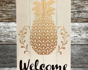 Welcome - Wood Sign (Medium) - Free Shipping - Fast Shipping-