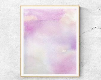 Purple Blue Watercolor Print, Abstract Watercolor Art Print, Calming Art, Abstract Color, Blue Abstract Art,Modern Art, Fine Art Print