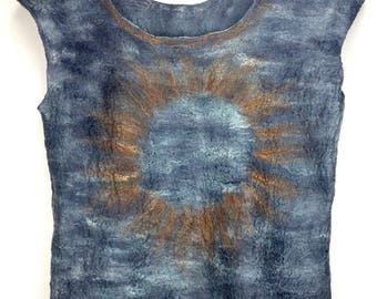 Ice & Fire, soft felted shirt