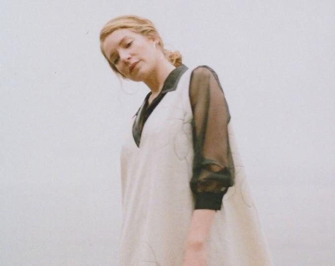 Lydia White Cotton Layering Dress.