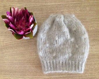 Hat Polka dots/wool/natural materials