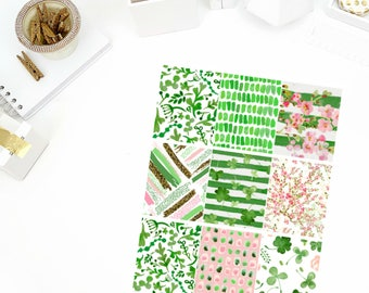Shamrock Full Boxes Stickers! Perfect for your Erin Condren Life Planner, calendar, Paper Plum, Filofax!