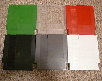 6-pack New Nintendo NES cartridge shell case w/ screws (mix and match colors)