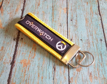 OVERWATCH inspired FOB Key Chain Tracer Winston Reaper Genji Mercy D.VA Junkrat Logo keychain