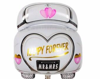 1Pcs 3D Wedding Car Wedding Aanagram Ballon Foil Ballon Wedding Decoration Mariage Bridal Shower Bachelorette Party Decor