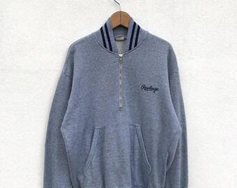 20% OFF Vintage Rawlings Half Zipper Sweater/Rawlings Baseball Clothing/Rawlings Sweatshirt