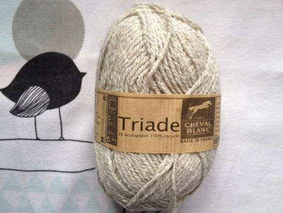 WOOL triad DOE - white horse
