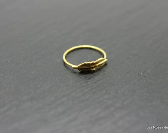 ring size Golden Feather 53 mini, gold ring