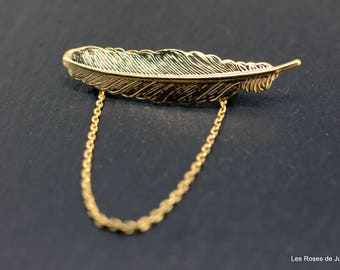Golden Feather brooch, brooch
