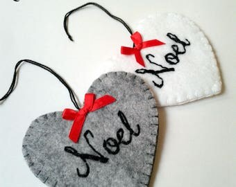 Felt ornaments, felt hearts, Christmas Ornaments, Felt Christmas Decorations, Felt Ornaments, Christmas ornaments, Felt ornament Set