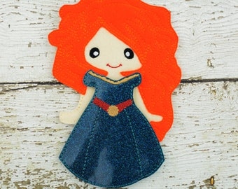Meri  Paper Doll - Party Favor - Pretend Play - Quiet Game - Travel Toy - Flat Doll - Felt Doll - Paper Doll - Dress Up Doll