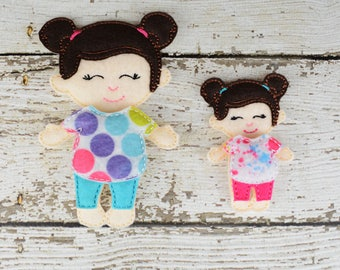 Allison  Paper Doll - Party Favor - Pretend Play - Quiet Game - Travel Toy - Flat Doll - Felt Doll - Paper Doll - Dress Up Doll