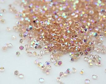 Swarovski Crystal Pixie Dust Light Peach AB mini zircon rhinestone 3D Nail art - 1000 piece