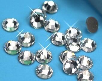 Swarovski crystals 2088 xirius CLEAR flat back stones gems rhinestone HOTFIX - ss16 ss20 ss30