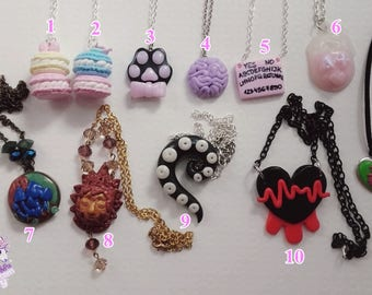 Assorted polymer clay necklaces sale