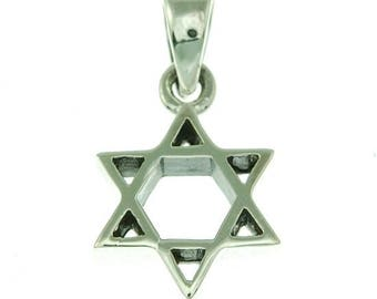 Star Of David Pendant With Chain Sterling Silver 925 #2