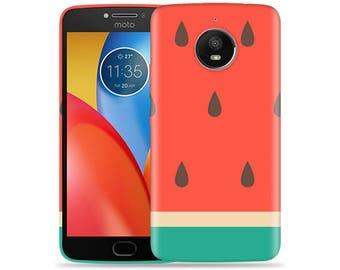 Motorola Moto E4 Case - Motorola E4 Case #Big Watermelon Hard Phone Cover