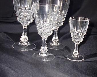 """Durand Cristal d'Arques """"Pompadour"""" Wine Glasses"""