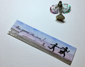 Hand Painted Sherlock the Game is On Bookmark | Sherlock Holmes